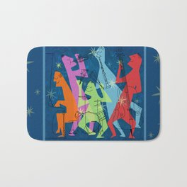 Mid-Century Modern Jazz Band Bath Mat