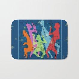 Mid-Century Modern Jazz Band Bath Mat