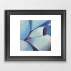 Blue Ribbon - Pastel Illustration Framed Art Print