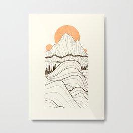 Forest Sun Cliffs Metal Print