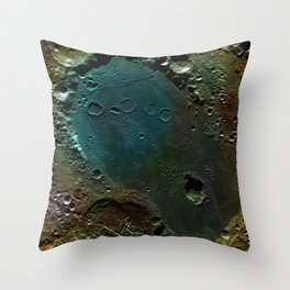 The Dark Side Of The Moon color (Mare Moscoviense) Throw Pillow