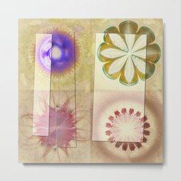 Gleeted Substance Flower  ID:16165-082307-33861 Metal Print