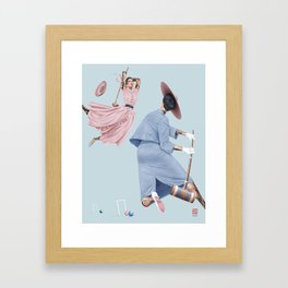 Croquet and Ink Eleven Framed Art Print