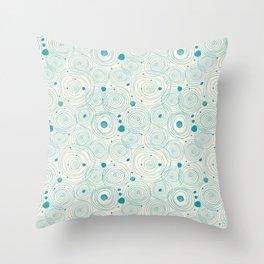 Blue Scribbles Pattern 04 Throw Pillow