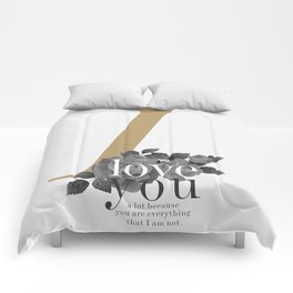 You Complete Me - LOVE #society6 #love #buyart Comforters