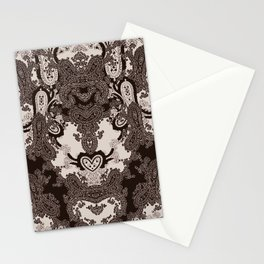 paisley heart Stationery Cards