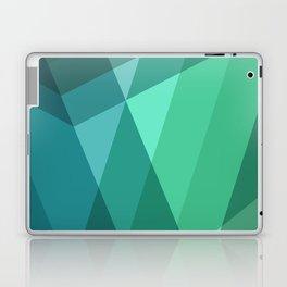 Fig. 046 Mint, Sea Green, Blue & Teal Geometric Laptop & iPad Skin