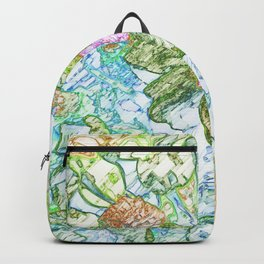 painted art blossom Backpack