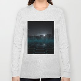 skyline night star sky moon sickle Long Sleeve T-shirt