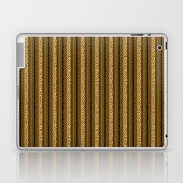 Bubbly Brown Striped Pattern Laptop & iPad Skin