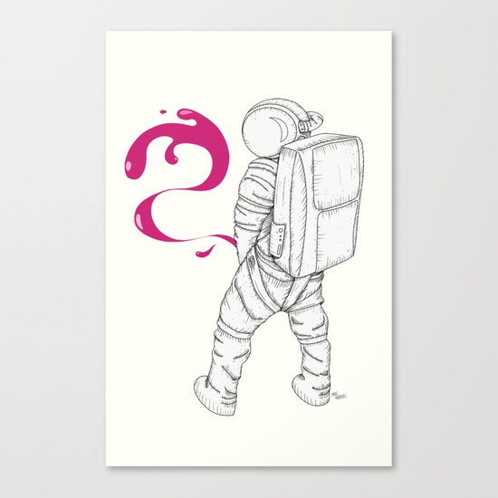 P{ee}ink in Space Canvas Print