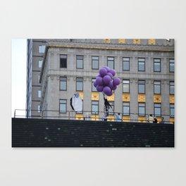 Purple balloon Canvas Print