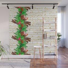 Christmas pine cones #3 Wall Mural