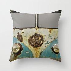 VW Rusty Throw Pillow