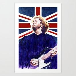 Clapton (blues earned) Art Print