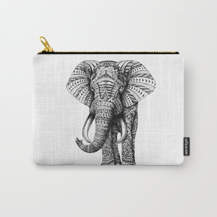 Ornate Elephant Carry-All Pouch