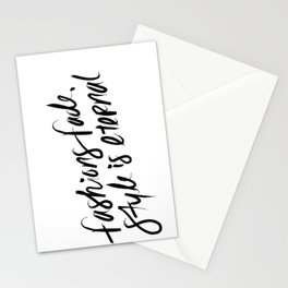 Style is Eternal Stationery Cards