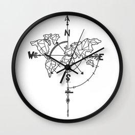Travel Mendala Doodle Wall Clock