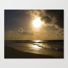 Clouds over the sea of Sylt Island Canvas Print