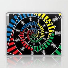 Spinning Disc Golf Baskets Laptop & iPad Skin