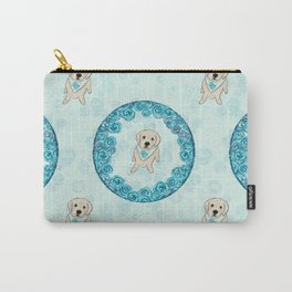 Golden Retriever + Rose = Rose Gold Carry-All Pouch