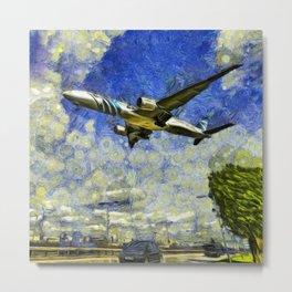 Airliner Van Gogh Metal Print