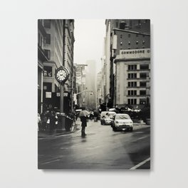 New York City - 5th Avenue in the Rain Metal Print
