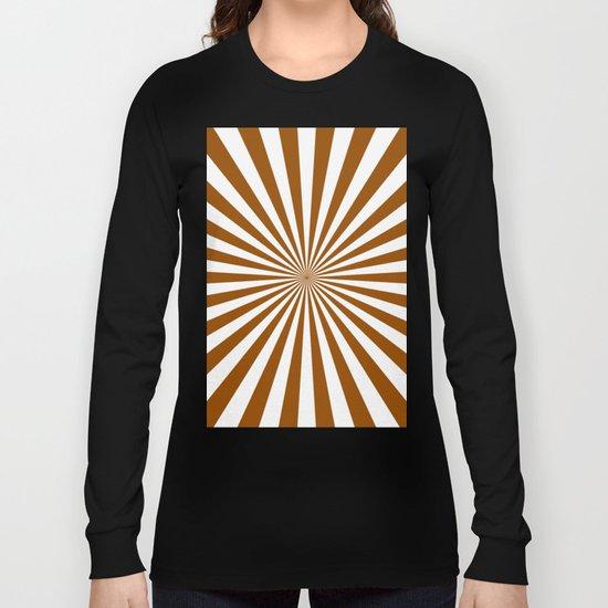 Starburst (Brown/White) Long Sleeve T-shirt