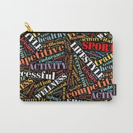 Sport related words pattern Carry-All Pouch