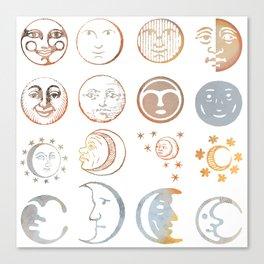 full moon ritual Canvas Print