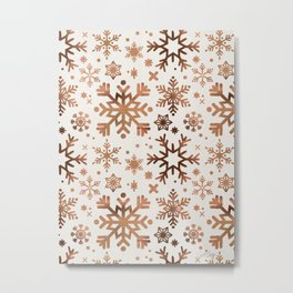 Snowflake Collection – Rose Gold Palette Metal Print