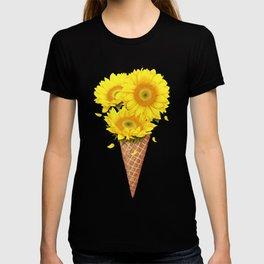 Ice cream with sunflowers T-shirt