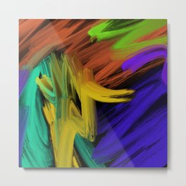 Abstract 3 Painting in Oil Metal Print