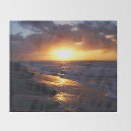 Sunrise Over Atlantic Ocean Throw Blanket