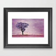 My purple dream Framed Art Print