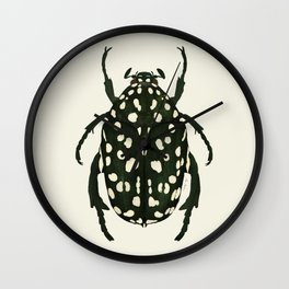 green beetle insect Wall Clock