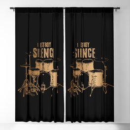 I Destroy Silence Blackout Curtain
