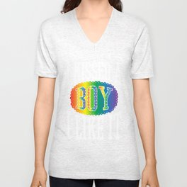 boy- Gay Pride T-Shirt Unisex V-Neck