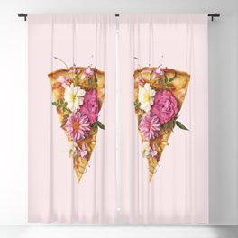 FLORAL PIZZA Blackout Curtain