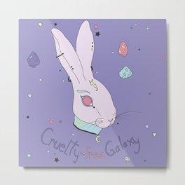 Vegan Bunny Metal Print