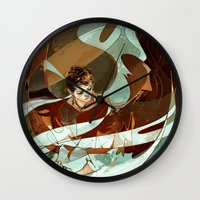 grace Wall Clocks featuring grace by anobviousaside