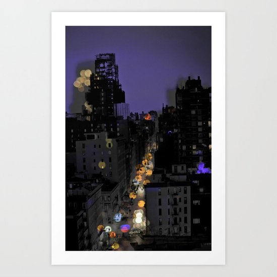 City Lights in NYC Art Print