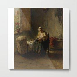 woman in home Metal Print
