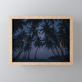 Find Me Under The Palms Framed Mini Art Print