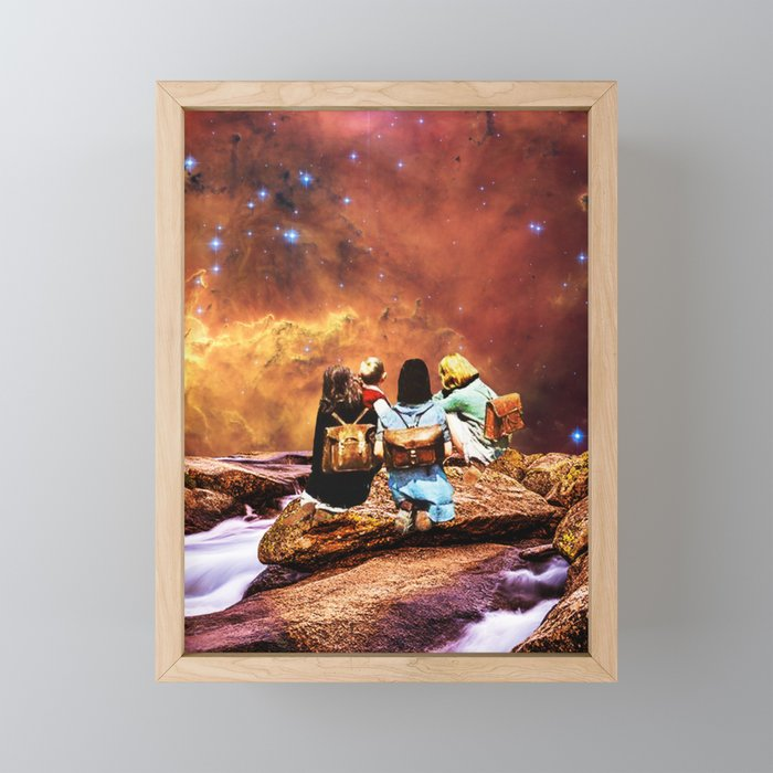 Children of the universe Framed Mini Art Print