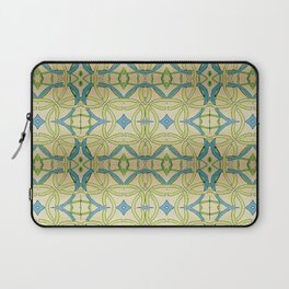 Blue Green Abstract Laptop Sleeve