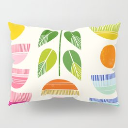 Sugar Blooms - Abstract Retro Inspired Design Pillow Sham
