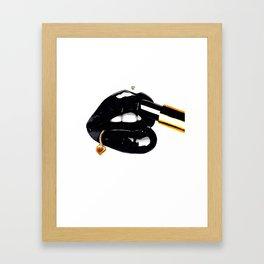 Black and Gold Beauty Framed Art Print