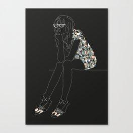 Josie - Black Version Canvas Print