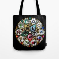 magic the gathering Tote Bags featuring Magic the Gathering - Stained Glass by omgitsmagic